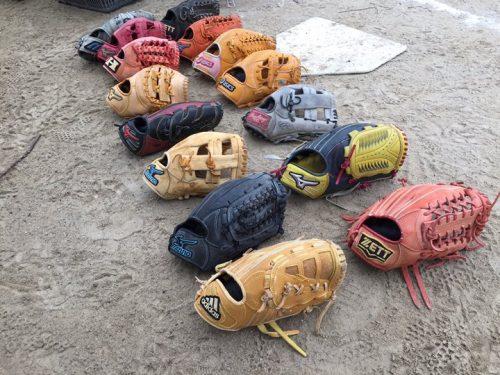 ソフトボールのグローブ