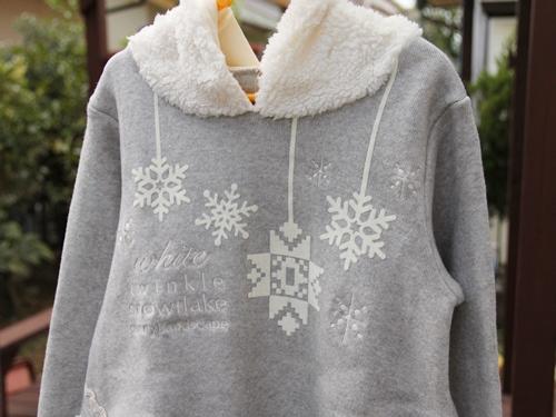 Sunny Landscape サニーランドスケープ 雪の結晶かぶりパーカー