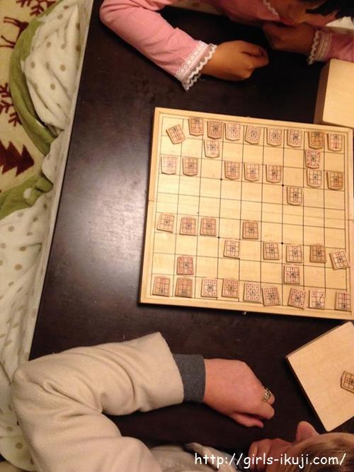 留学生と将棋遊び