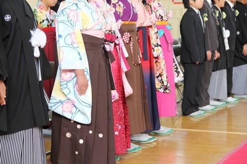 小学校卒業式 袴姿
