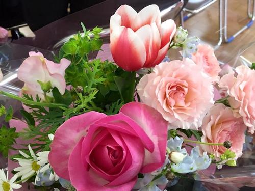 卒団式にもらったお花