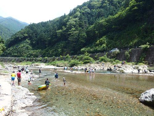板取川 川遊び