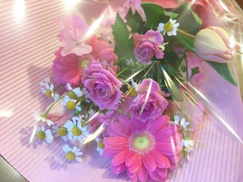 卒団式でもらった花束